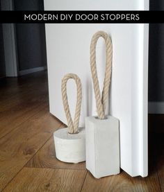 How To: Make Modern Door Stoppers with Concrete and Rope » Curbly | DIY Design Community