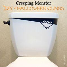 DIY Creeping Monster Vinyl Halloween Decorations - CraftsUnleashed.com