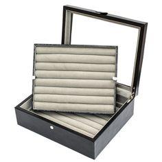 Cuff-Daddy Large Leather Cufflinks Storage Case Box Black 72 pairs Cuff-Daddy http://www.amazon.com/dp/B00FE975UU/ref=cm_sw_r_pi_dp_ot5xub04W7ZHK