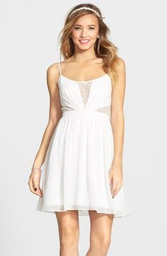 Hailey+Logan+Illusion+Bodice+Skater+Dress+(Juniors)+available+at+#Nordstrom Just add tulle skirt