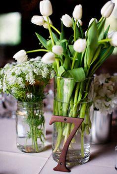 Simple Flowers. Table Numbers.