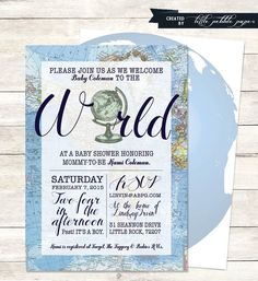 Welcome to the World Baby Shower Printable by LittlePebblePaper