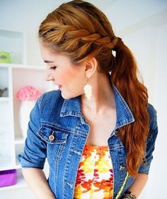 Cute ponytail hairstyle Ideas For Medium Hair0051
