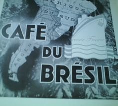 Vintage French Ad Cafe Brazil Coffee  1935 by reveriefrance on Etsy
