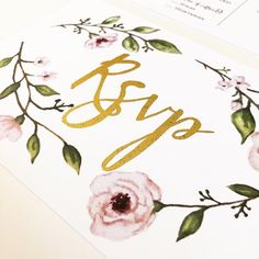 A sneak peak of an invitation suite that is with the printer right now. I can't wait to pick up the finished product!⠀  .⠀  .⠀  .⠀  .⠀  .⠀  #custominvitations #pursuepretty #visualsoflife #creativelifehappylife #makersgonnamake #createeveryday #darlingmovement #thatsdarling #vsco #vscocam #design #watercolor #watercolorinvitations #handdrawn #handpainted #invitations #weddinginspo #foil #foilinvitations