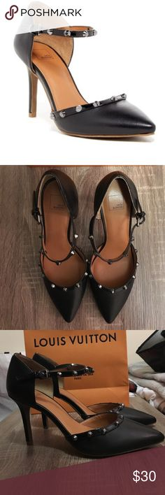 """14th & UNION MARLOW STUDDED PUMP SIZE 7.5 Darling and comfortable 14th & Union pump. NEVER WORN! Size US 7.5 - Pointed toe - Studded trim detail - Adjustable ankle buckle strap closure - Memory foam insole - Covered heel - Approx. 3.5"""" heel - Imported 14th & Union Shoes Heels"""