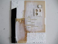 """""""give up"""" daily poetry by anca gray. mixed media collage on canvas. 8""""x10"""" 2013"""
