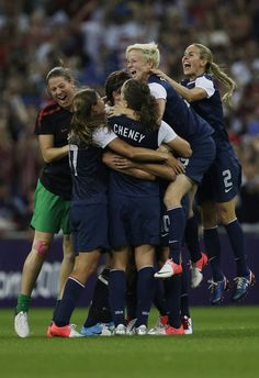 Olympics 2012 Gold medal Women's Soccer, USA ...............saw them play in Manchester!!!  Best game ever
