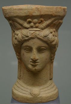 Demeter or Core's head shaped, Museum  Catalunya, Barcelona