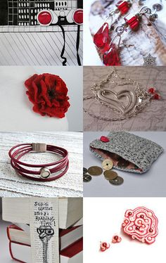Just A Touch Of Red curated by Magical Attic on Etsy