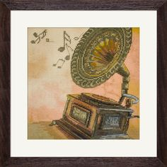 CP5179 Gramophone. Cross stitch kits with canvas with printed