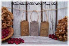 Blackend Beeswax Hornbook Ornaments by Vermont Harvest Folk Art (Doreen Frost).
