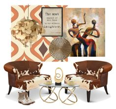 """""""Cool Contemporary..."""" by kimberlyd-2 ❤ liked on Polyvore featuring interior, interiors, interior design, home, home decor, interior decorating, Graham & Brown, Universal Lighting and Decor, Roberto Cavalli and Golden Goose"""