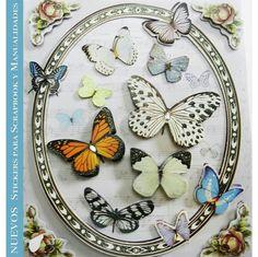 Planillas de #Stickers colección #mariposas Ideales para #scrapbook y #manualidades. Pídelos con las claves: DJS103 A