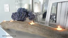 Restoration House: Driftwood candle holder tutorial...