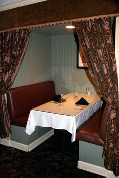 Private Booth at the Parker House Restaurant -- Ridgeland, Mississippi