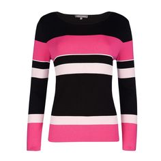 Pink Crew Neck Colou