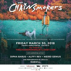 Its getting closer! Dance and sing your hearts out at @thechainsmokers Live in Concert Jakarta March 30th at JIEXPO Kemayoran. . Dont lose your chance to see them performing live cos its gonna be their biggest concert in Asia with DJ set more instruments & more surprising acts! . Get your tickets at thechainsmokersjkt.loket.com and stay tune for more info: @townsquareentertainment #thechainsmokersjkt #nylonindonesiadotcom via NYLON INDONESIA MAGAZINE official Instagram - #Beauty and #Fashion…