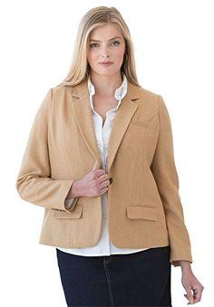 PSD Jessica London Women's Plus Size Fitted Wool Blazer