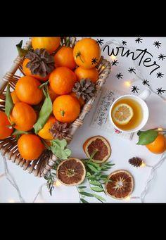 Здравствуйте, зима, холода, снег🤗 мандарины❤️ чудеса и праздничное настроение 🤗💕 #мамаидоча #нашазима #omsk #скороновыйгод #flatlay #love Vegetables, Instagram, Food, Veggies, Vegetable Recipes, Meals, Yemek, Eten
