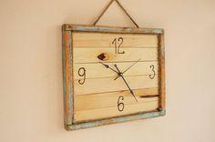Handmade Clock Wooden clock Recycled wood clock by WoodRestart