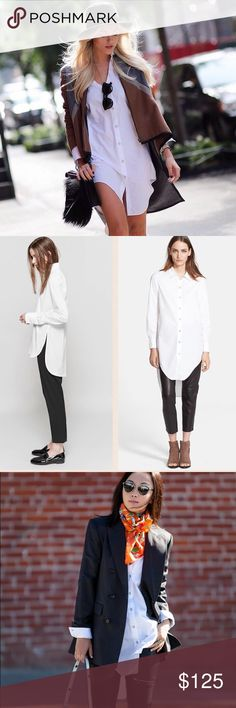 Rag & Bone high/low shirt dress Sooo versatile and beautiful. New with tag attached rag & bone Tops