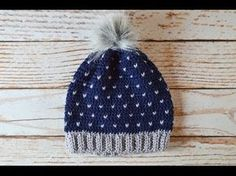 """Learn how to make this cozy slouchy hat, with a beautiful """"snowfall"""" coloring! This video shows you step-by-step how to make this cute hat. Basic crochet kno..."""