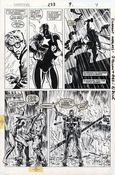 """A page from """"Daredevil: Born Again"""" by David Mazzucchelli"""