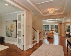 wish i could see this floor plan. looks like the livingroom and kitchen opens up. love the door nice clean lines