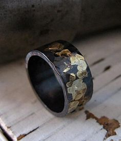 Perfectly imperfect: an oxidized silver ring. #etsy