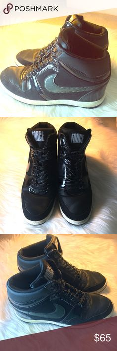 online store 3bc87 2f3db Nike Force Sky High Shoes Black 629746-001 W Sz9 Add an easy 2.5""