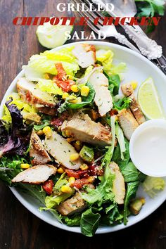 Grilled Chipotle Chicken Salad Recipe on Yummly