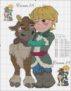 Disney Frozen Cross Stitch I haven't cross stitched in years and dont know what i'd put it on but it's adorable and i'm pinning it just in case.