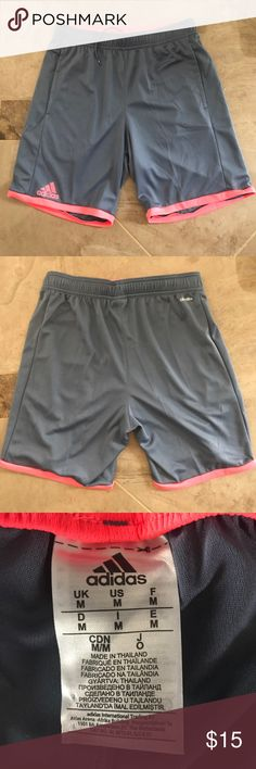 Neon pink Adidas shorts Adidas shorts adidas Shorts