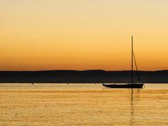 Sunset at lake Balaton, Hungary Hungary, Sunsets, My Photos, Celestial, Outdoor, Outdoors, Outdoor Games, Outdoor Life, Sunset