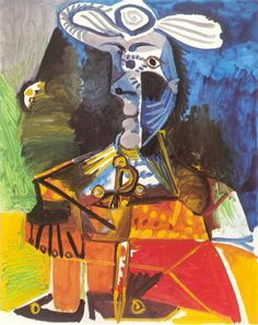 Pablo Picasso - The matador, 1970 Pablo Picasso, Picasso Cubism, Picasso Portraits, Picasso Paintings, Oil Paintings, Georges Braque, Mougins France, Cubist Art, Sans Art