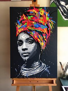 """""""Abstract African Girl With Letters Wall Art Canvas Modern Pop Wall Graffiti Art Paintings Black Woman Cuadros Picture Home Decor"""" African American Art, African Art, African Women, African Culture, Canvas Poster, Wall Canvas, Big Canvas, Graffiti Art, Letter Wall Art"""