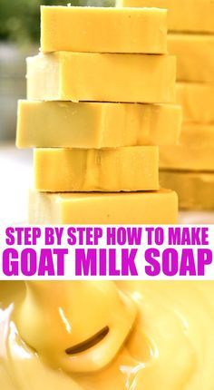 A step by step tutorial on how to make goat milk soap. This tutorial will show you how easy it is to make goat milk soap! Homemade Conditioner, Homemade Shampoo, Face Scrub Homemade, Hair Conditioner, Homemade Soap Recipes, Homemade Products, How To Make Decorations, Healty Dinner, Goat Milk Soap