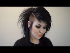 Gothic Hairstyles, Celebrity Hairstyles, Wig Hairstyles, Hair Inspo, Hair Inspiration, Long Mohawk, Skinhead Girl, Goth Hair, Mullet Hairstyle