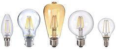 LED Filament Light Bulbs. Leave the bulb exposed for a great vintage look light bulb, or alternatively simply replace regular halogen or incandescent light bulbs with this low energy alternative that produces an excellent warm white light quality.