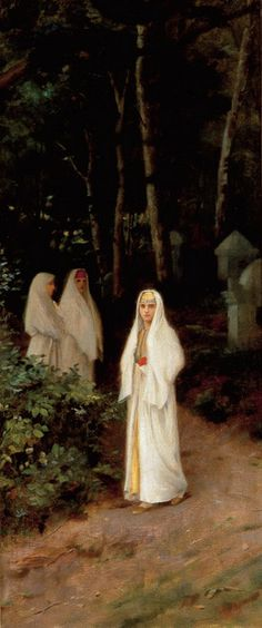 Theodoros Rallis - The Walk Classic Paintings, Islamic World, Art Therapy, Egypt, Painters, Globe, Middle, Portraits, Art
