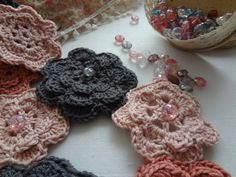 PDF Irish Rose Crochet Patterns crochet flower pattern by sewella