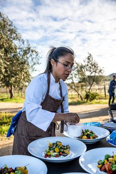 Chef Sheyla Alvarado's amazing food delighted us all.  #outdoorcooking #alfresco #farmtotable Sheep Cheese, Mole Sauce, Outdoor Dinner Parties, Smoked Fish, Cheese Salad, Wild Mushrooms, Fish Dishes, Roasted Vegetables, Outdoor Cooking