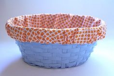 Tutorial: Lined basket from an old Easter basket · Sewing | CraftGossip.com