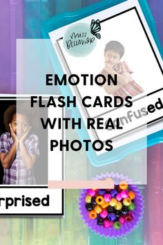 Emotion identification flash cards featuring real photos Special Needs Teacher, Special Needs Students, Psychology Resources, School Psychology, Classroom Behavior Management, Student Behavior, Emotions Activities, Classroom Activities, Emotion Words