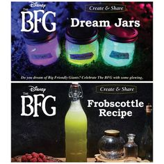 Make Disney's The BFG Dream Jars and Frobscottle Recipe ~ - Worldpin. Bfg Activities, Classroom Activities, Ela Classroom, The Bfg Book, Bfg Dream Jars, Bfg Movie, Book Club Food, The Gruffalo, 2nd Grade Reading