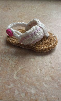 Crochet Baby Sandals Baby Flip Flops Crochet by DOVIESlovingKNITS