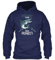Custom Fishing T Shirts Navy Sweatshirt Front
