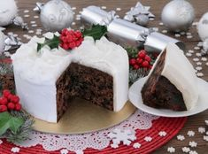 Food Cakes, Christmas Desserts, Christmas Baking, Irish Christmas, Christmas Cakes, Cake Recipes, Dessert Recipes, New Year's Cake, Edible Food