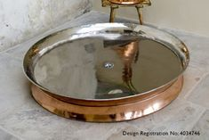 Rotunda Copper Shower Tray Polished Nickel 885mm Shower Heads, Polished Nickel, Showers, Tray, Copper, Bath, Home Decor, Bathing, Decoration Home